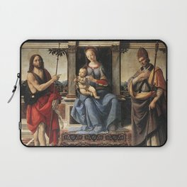 Andrea del Verrocchio - Madonna with Sts John the Baptist and Donatus Laptop Sleeve