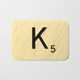 Scrabble K Decor, Scrabble Art, Large Scrabble Tile Initials Bath Mat