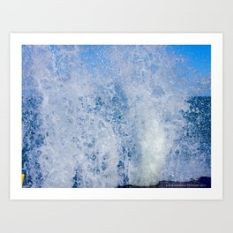 Lake Michigan Natural Fountains #3 (Chicago Waves Collection) Art Print