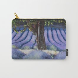 Lavender Field with Apple Tree Carry-All Pouch