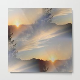 The Land of Two Suns... Metal Print