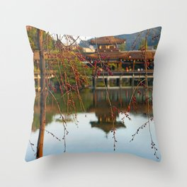 Heian Jingu Shrine Kyoto Japan Throw Pillow