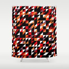 Sumi Retro Quilt Shower Curtain