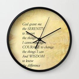 Serenity Prayer Abstract Sunflowers Wall Clock