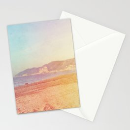 Color gradient sunny beach pastel holidays vintage happy Stationery Cards