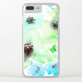 Blooming bouquet #5 || watercolor Clear iPhone Case