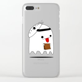 Derpy Ghost Clear iPhone Case