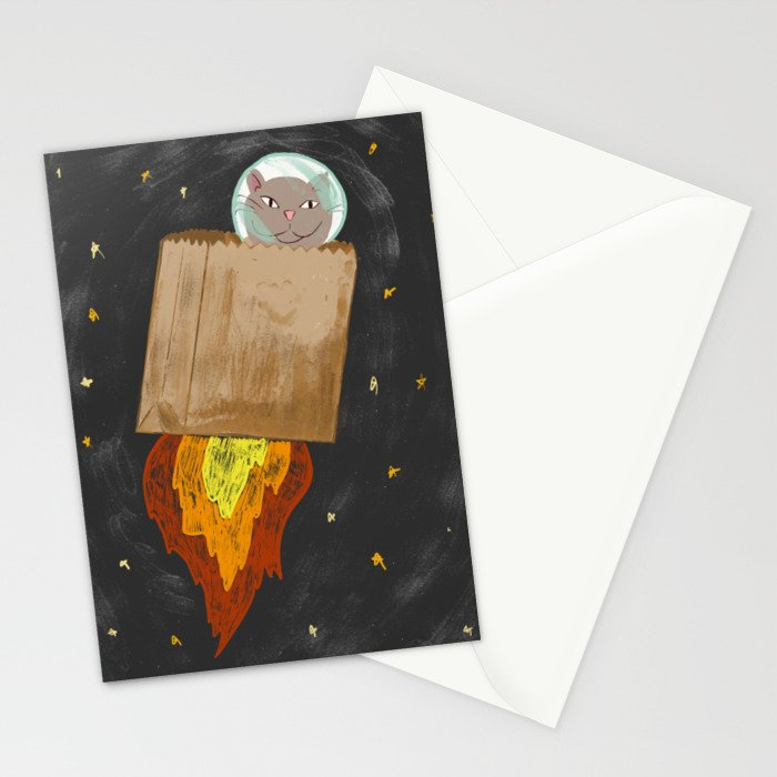 Astro-cat Stationery Cards