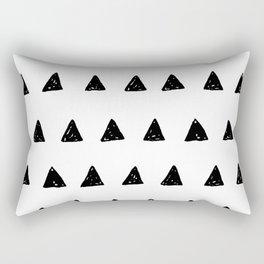 Aztec minimal triangles Rectangular Pillow