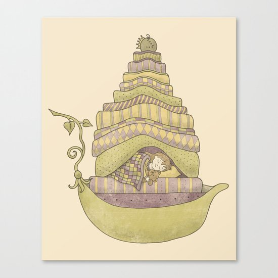 Princess Pea and the Girl Canvas Print