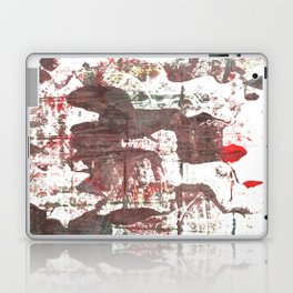 Deep Taupe abstract watercolor Laptop & iPad Skin