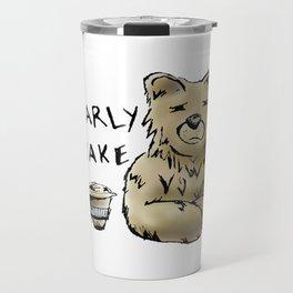 Bearly Awake Funny Pun Travel Mug