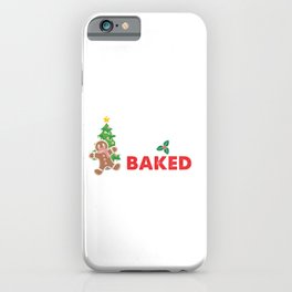 Lets Get Baked Cute Christmas Ginger Bread Gift iPhone Case