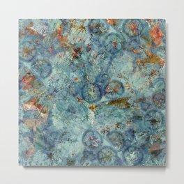 Cellular (Blue) Metal Print
