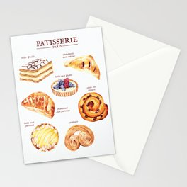 Parisian Pastry Stationery Cards