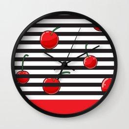 Cherry season Wall Clock