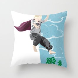 The man who has no imagination has no wings. Throw Pillow