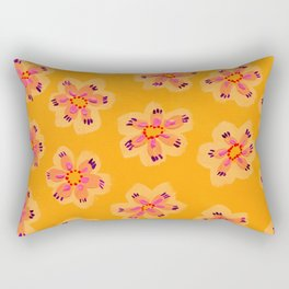 Tangerine Emily Claire Rectangular Pillow