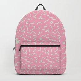 Postmodern Squiggles in Pink + Mint Backpack