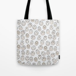 HEDGEHOG PATTERN BEIGE Tote Bag