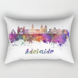 Adelaide V2 skyline in watercolor Rectangular Pillow