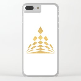 CHECKERBOARD ABSTRACT PYRAMID sacred geometry Clear iPhone Case