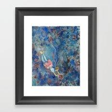 Readers Blue Framed Art Print