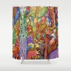 Head nature (Details) Shower Curtain