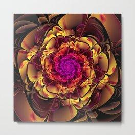 Beautiful Lantana Camara Sunrise Fractal Flowers Metal Print