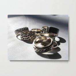 Anniversary Rings Metal Print