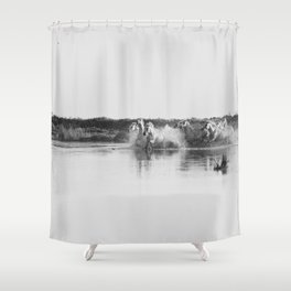 Camargue Horses V Shower Curtain