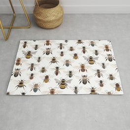 A Collection of Native Bees Rug