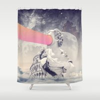sisters Shower Curtains featuring sisters by Peg Essert