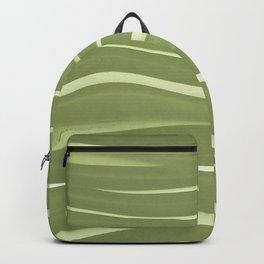 Modern Green Stripes Pattern Backpack