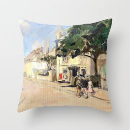 The Fountain Tavern, Penzance, circa - Stanhope Alexander Forbes Throw Pillow