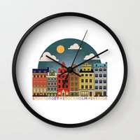 stockholm Wall Clocks featuring Stockholm by HOONISME