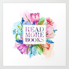 Read More Books Pastel Art Print