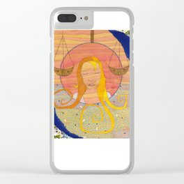 Libra, the Scales Clear iPhone Case