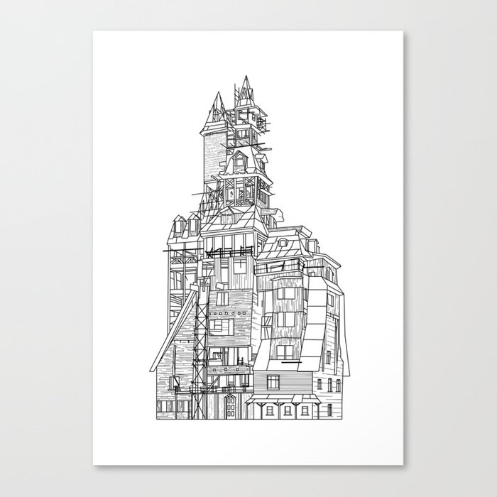 Crooked House Canvas Print