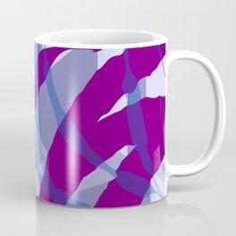 Purple Streaks & Blocks Abstract Art Coffee Mug