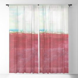 Journey No.600i by Kathy Morton Stanion Sheer Curtain
