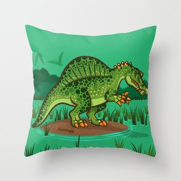 Lil' Spinosaurus Throw Pillow