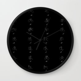 British Sign Language ABC Wall Clock