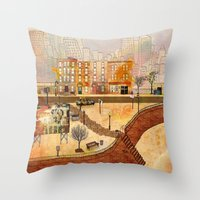 brooklyn Throw Pillows featuring Brooklyn by Katy Davis