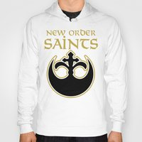new order Hoodies featuring New Order Saints by Ant Atomic