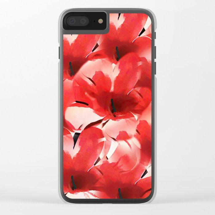 Red Poppies - Painterly Clear iPhone Case