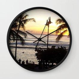 Waikiki Dusk Wall Clock