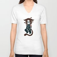 bucky barnes V-neck T-shirts featuring bucky by cynamon
