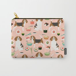 beagle sushi dog lover pet gifts cute beagles pure breeds Carry-All Pouch