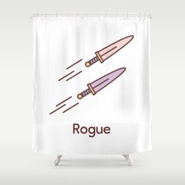 Cute Dungeons and Dragons Rogue class Shower Curtain